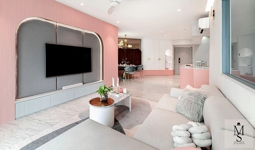 Luxurious light classic French home with soft coral dough - Interior Design Ideas