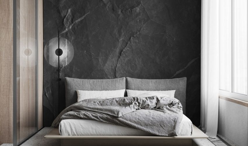 Lips house 10 square meters of natural stone with quiet gray color - Interior Design Ideas