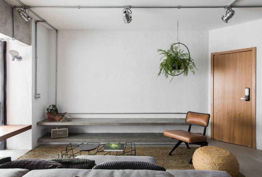 Light industrial green house 48 square meters - Interior Design Ideas