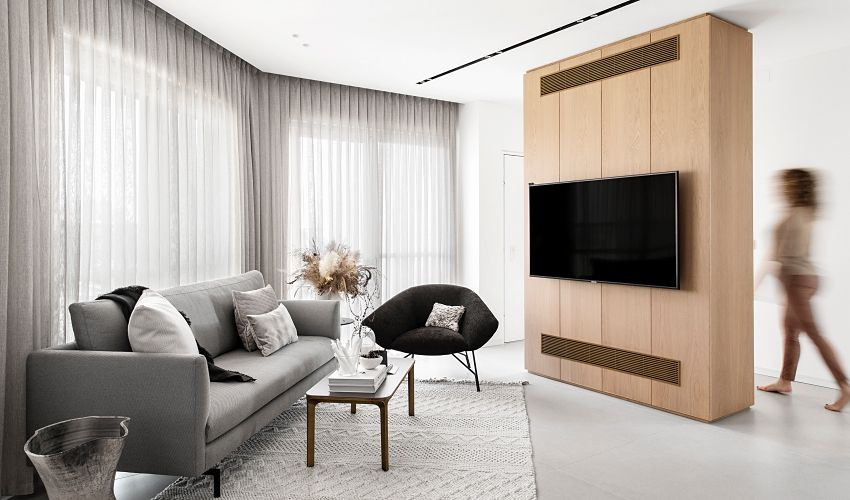 Distorted pattern becomes an elegant home - Interior Design Ideas