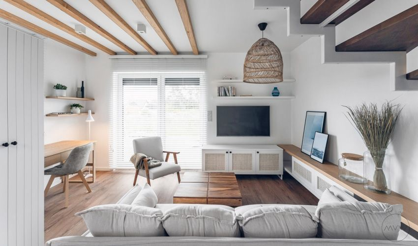 The house is pure white - Interior Design Ideas