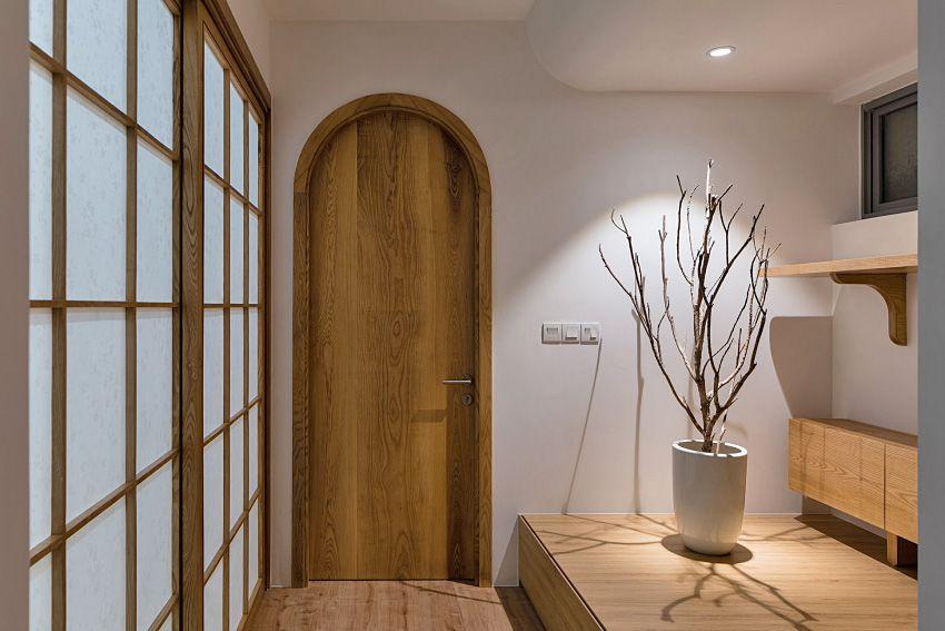 Japanese style house with soft arcs - Interior Design Ideas