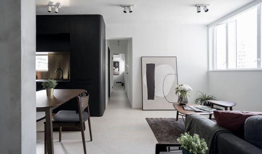 Minimalistic Nordic house in black and white - Interior Design Ideas