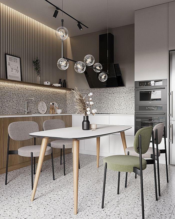 Modern single green fog house measuring 15 square meters - Interior Design Ideas