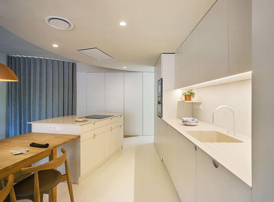 Refurbished 40m2 apartment by artistic curves - Interior Design Ideas