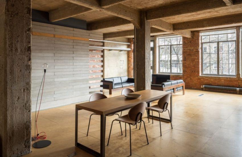 Single loft house in retro style - Interior Design Ideas