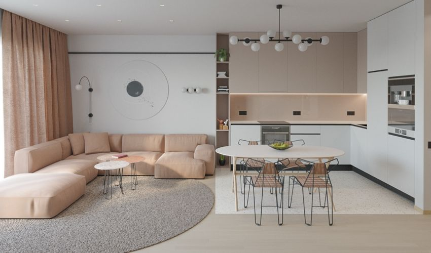 The house with the light of apricot blossom - Interior Design Ideas