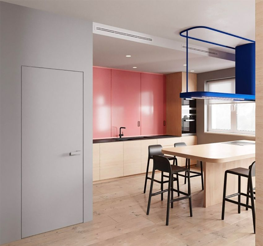 The wooden apartment is 36 square meters wide - Interior Design Ideas