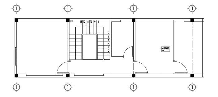 Bản vẽ mặt bằng tầng 3 mẫu nhà ống 3 tầng đẹp