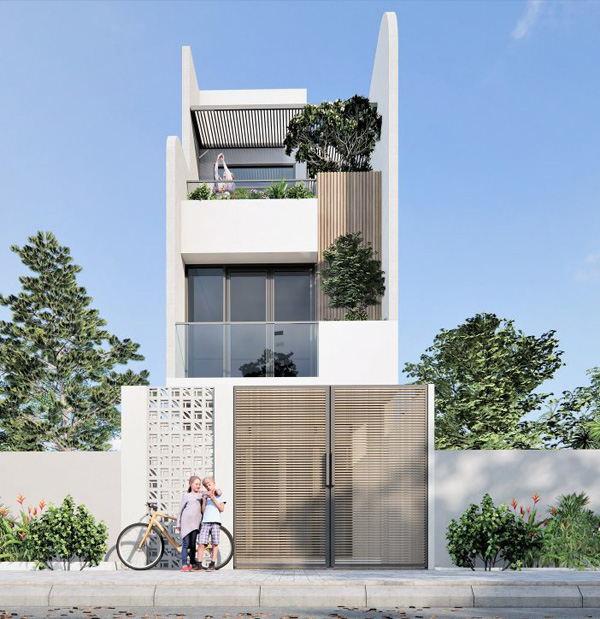 Top 100 mặt tiền nhà phố 5m đẹp nhất 2021 - Xây nhà trọn gói Hải Phòng