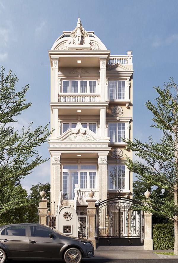 Thiết kế nhà Hải Phòng chia sẻ các Mẫu nhà tân cổ điển ấn tượng